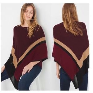 White House Black Market Sweaters - WHBM Colorblock Asymmetrical Sweater Poncho